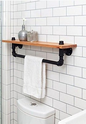 Industrial Bathroom Shelves Design Ideas09