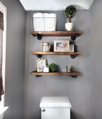Industrial Bathroom Shelves Design Ideas16