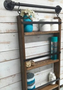 Industrial Bathroom Shelves Design Ideas20