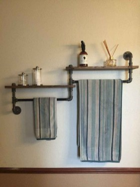 Industrial Bathroom Shelves Design Ideas25