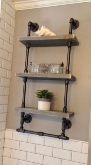 Industrial Bathroom Shelves Design Ideas29