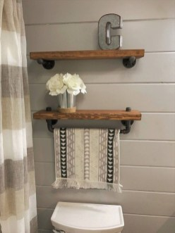 Industrial Bathroom Shelves Design Ideas30