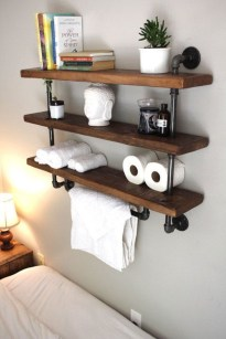 Industrial Bathroom Shelves Design Ideas31
