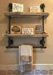 Industrial Bathroom Shelves Design Ideas37