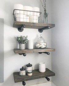 Industrial Bathroom Shelves Design Ideas38