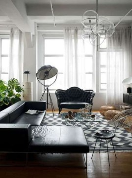 Luxury Black Leather Living Room Sofa Ideas For Comfortable Living Room15