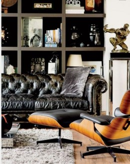 Luxury Black Leather Living Room Sofa Ideas For Comfortable Living Room27
