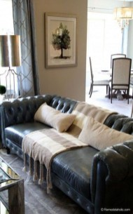Luxury Black Leather Living Room Sofa Ideas For Comfortable Living Room32
