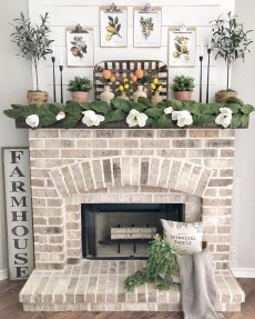 Wonderful Farmhouse Decor Ideas With Beautiful Greenery10