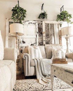 Wonderful Farmhouse Decor Ideas With Beautiful Greenery28