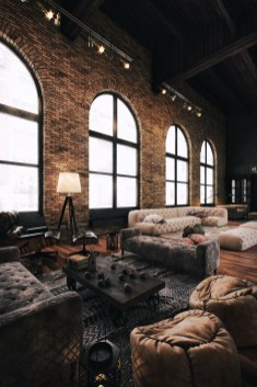 Wonderful Industrial Rustic Living Room Decoration Ideas You Have Must See26