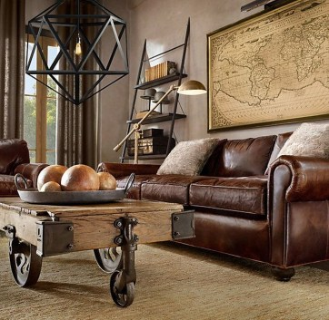 Wonderful Industrial Rustic Living Room Decoration Ideas You Have Must See27