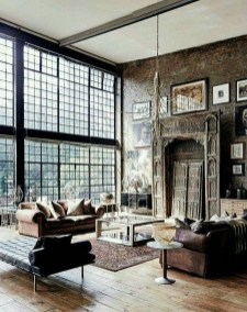 Wonderful Industrial Rustic Living Room Decoration Ideas You Have Must See40