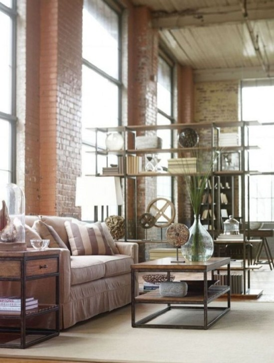 Wonderful Industrial Rustic Living Room Decoration Ideas You Have Must See42