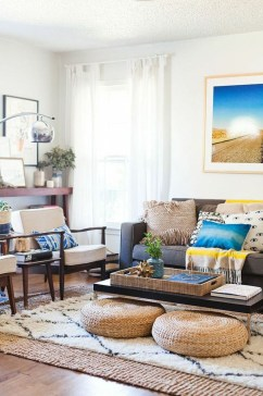 Wonderful Living Room Rug Layering Combination For Sweet Home26