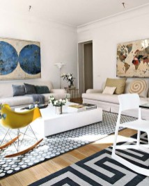 Wonderful Living Room Rug Layering Combination For Sweet Home31