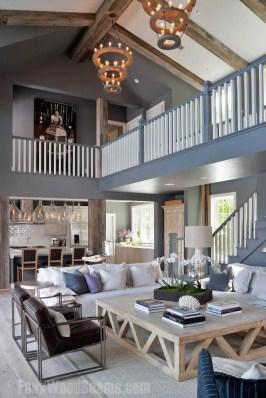Attractive Lake House Living Room Decor Ideas15