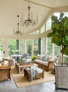 Attractive Lake House Living Room Decor Ideas29