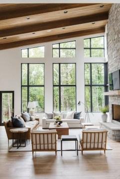 Attractive Lake House Living Room Decor Ideas36