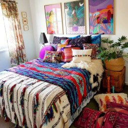 Cozy Diy Bohemian Bedroom Decor Ideas09