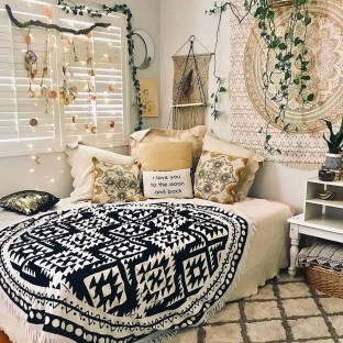 Cozy Diy Bohemian Bedroom Decor Ideas34