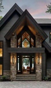 Creative Lake House Exterior Designs Ideas37