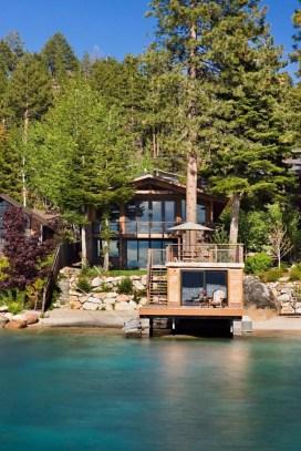 Creative Lake House Exterior Designs Ideas42