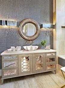 Elegant Bathroom Sink Decorating Ideas For Bathroom47