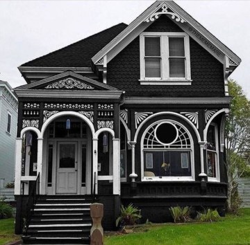 Incredible Homes Decorating Ideas With Black Exteriors15