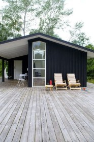Incredible Homes Decorating Ideas With Black Exteriors31