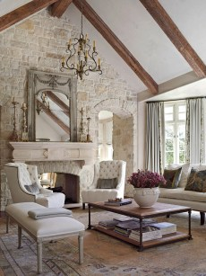 Perfect French Country Living Room Design Ideas19