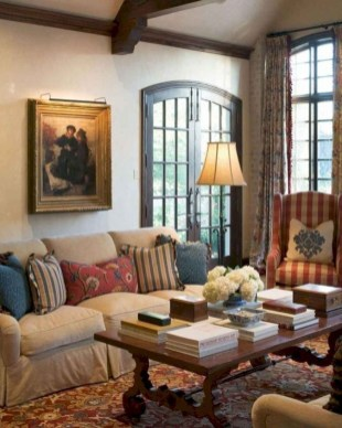 Perfect French Country Living Room Design Ideas34
