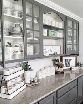 Pretty Farmhouse Kitchen Makeover Design Ideas On A Budget17