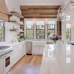 Pretty Farmhouse Kitchen Makeover Design Ideas On A Budget39