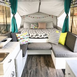 Shabby Chic Trailer Makeover Renovation Ideas28