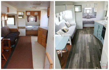 Shabby Chic Trailer Makeover Renovation Ideas30