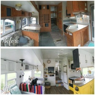 Shabby Chic Trailer Makeover Renovation Ideas32