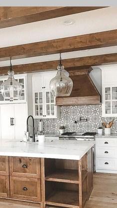 Stylish Farmhouse Kitchen Cabinet Design Ideas06