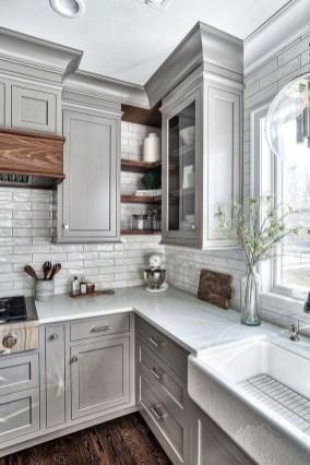 Stylish Farmhouse Kitchen Cabinet Design Ideas26