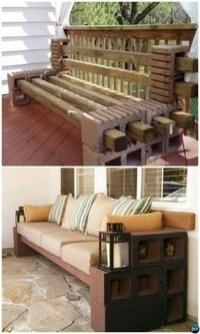 Unique Diy Cinder Block Furniture Decor Ideas29