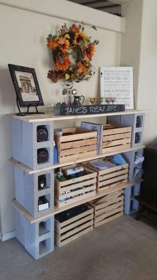 Unique Diy Cinder Block Furniture Decor Ideas42