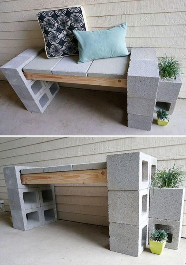 Unique Diy Cinder Block Furniture Decor Ideas43