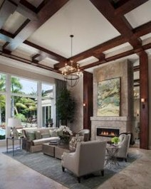 Cool Living Room Design Ideas With Fireplace To Keep You Warm This Winter04