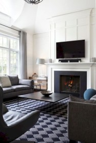 Cool Living Room Design Ideas With Fireplace To Keep You Warm This Winter19