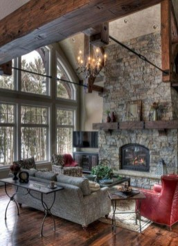 Cool Living Room Design Ideas With Fireplace To Keep You Warm This Winter24