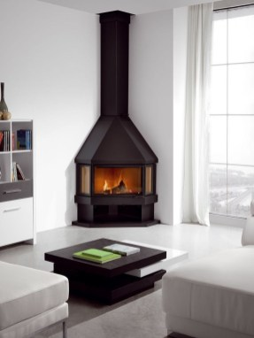 Cool Living Room Design Ideas With Fireplace To Keep You Warm This Winter27