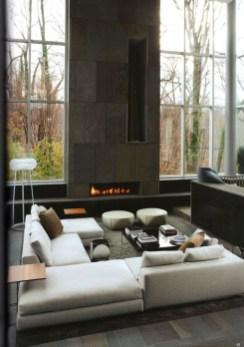 Cool Living Room Design Ideas With Fireplace To Keep You Warm This Winter36
