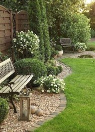 Fascinating Side Yard And Backyard Gravel Garden Design Ideas That Looks Cool29