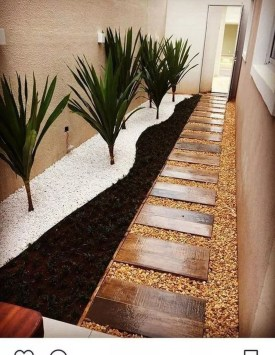 Fascinating Side Yard And Backyard Gravel Garden Design Ideas That Looks Cool34