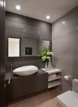 Functionally Decorated Contemporary Powder Rooms06